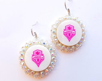 Pink Seattle Sounders Earrings
