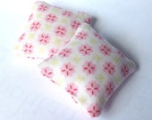 Dollhouse miniature cushions, Romantic floral mini pillows 1:12 scale, , set of two throw pillows, pink flowers ma08