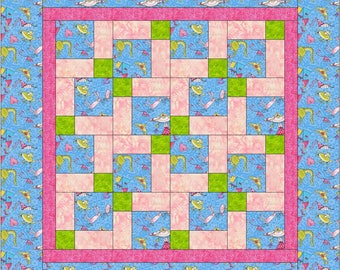 PDF  Pattern, Baby Nines Beginner Quilt pattern, charm square friendly, Easy and Fast, Quilting instruction, Sewing Scrappy Patchwork, small