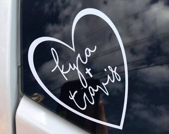 Personalized Vinyl Decals | Love Decals for Couples| Decals Made of Vinyl | Car Decals | Boyfriend | Window Decal |FREE SHIPPING