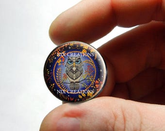 Retro Glass Owl Cabochon for Jewelry and Pendant Making - Design O1