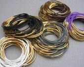Reserved listing janelledoig1- Stacking Bracelet Set Stackable Rubber Bracelet for Stacking Goldl