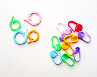 20 stitch markers for crochet - 2 styles to choose from