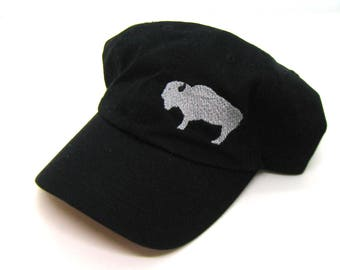 Clearance - Sale - Gift - Gracie Designs Hat - Gray Buffalo off-center Dad Hat