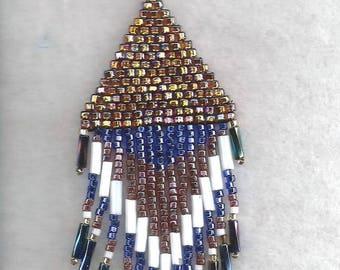 Seed Bead Woven Pendant