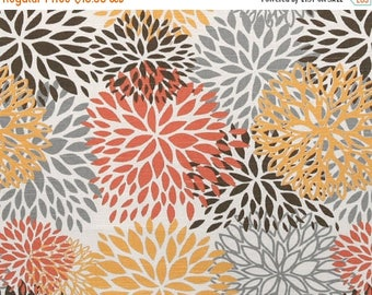 ON SALE - 10% Off Premier Prints Blooms Chili Pepper Slub Home Decorating Fabric BTY