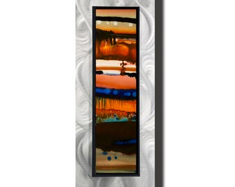 Orange Earthtone Modern Metal Art, Abstract Metal Wall Painting, Contemporary Wall Accent, One of a Kind Home Decor - JC 517F by Jon Allen