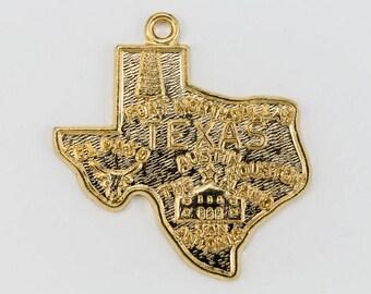 20mm Gold Texas Charm #CHA021