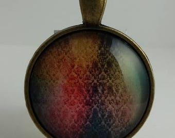 Multi-color Glass Cabochon Pendant