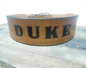 Custom Leather Dog Collars - Personalized Dog Collars -  Extra Large Dog Collars