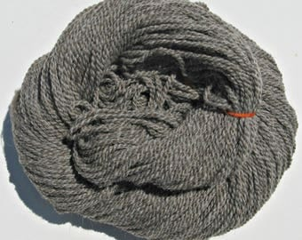Gray Wool and Alpaca Yarn, for Knitting, Crochet, Weaving, and Felting, Farm Fresh, Light Worsted, 250 yards