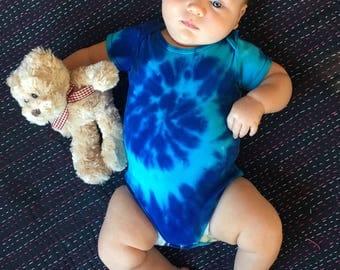 Baby Blue Tie Dye Onesie