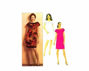 SALE Misses Semi Fitted Dress Butterick 5210 Sewing Pattern Size 6 - 8 - 10 - 12 Bust 30 1/2 - 31 1/2 - 32 1/2 - 34 UNcut