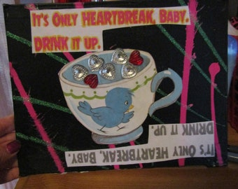 Drink It Up {Original Collage}