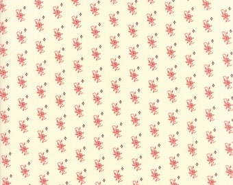 Hazel and Plum - Pumpkin Seeds in Cream and Pomegranate: sku 20293-17 cotton quilting fabric by Fig Tree and Co. for Moda Fabrics