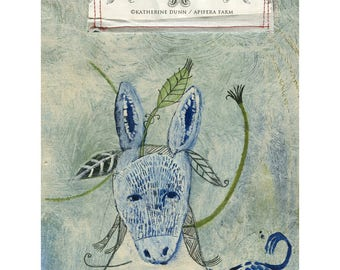 "Original painting ""Spring Meets Donkey"""
