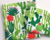 Reusable Snack Bag, Sandwich Bag, with fun Cactus for a Zero Waste Lunch, School lunch, Work lunch, Snacks to go