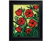 Red Poppies Print - Red P...