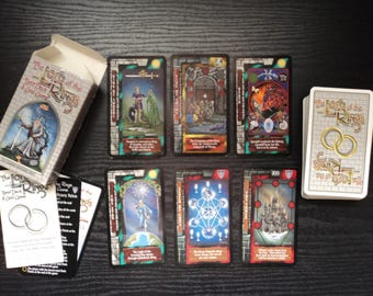 Lord of the Rings Tarot Card and Game Deck - 78 Cards with Hand Made Pouch and White Sage Smudge Stick