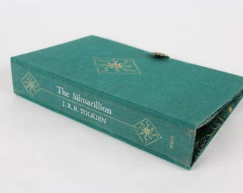 Book Clutch Purse - The Silmarillion- made from recycled vintage book by Rebound Designs
