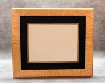 Incredible Diploma Frame for the graduate in your life, Solid Tiger Maple, perfect for any office.