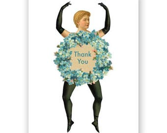 Thank You Paper Doll Card Set of 12