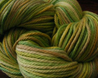 Handpainted Turkish Cotton Yarn 180yds 3.5 oz Worsted Weight Hand Painted Aspenmoonarts C051 knitting weaving