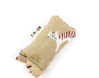 Stripy Cat Green Bean Organic Eco Friendly Catnip Cat Toy For Mew