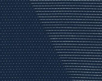 Robert Kaufman FABRIC - Stitched in Navy