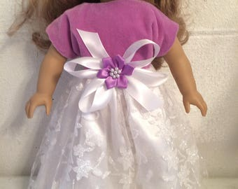 Doll clothes that fit the American girl Christmas dress