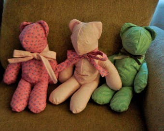 Memory Teddy Bear - Remember a Loved one with a Bear made from Their Clothing