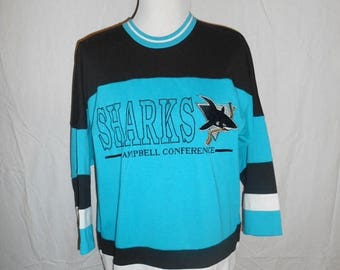 Closing Shop 40%off SALE Vintage Jersey Shirt tee t shirt     San Jose Sharks          L large