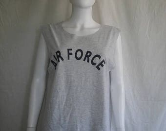 Closing Shop 40%off SALE AIR Force t shirts, Military grey t shirt tank top