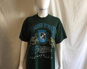 Closing Shop 40%off SALE Marine World Killer Whale t shirt