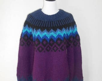 Closing Shop 40%off SALE Handmade wool pullover sweater jumper