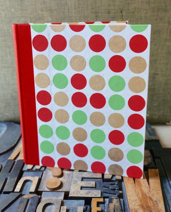 Photo Album - Large with Red, Green and Gold Dots