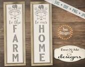 Welcome svg - welcome to our home svg - welcome to the farm svg  - porch sign svg bundle - svg bundle - Commercial use svg, dxf, png and jpg