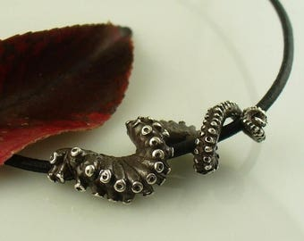 SALE SALE - Ready to Ship! Leather Tentacle necklace, Octopus Jewelry, Tentacle Jewelry, OctopusME