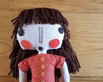Rag Doll, Fabric Doll, Girl Rag Doll, Handmade Doll, Wedding Gift, Girl Gift, Custom Doll, Custom Portrait Doll, Rag Dolls, Fabric Dolls