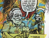 Charles Bukowski one of a kind testprint
