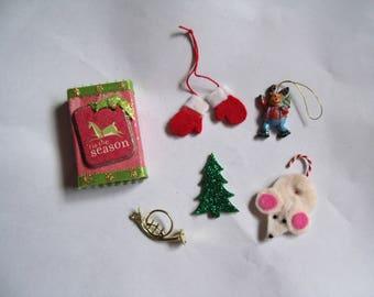 Tis the Season Matchbox with 5 Goodies Inside/Decoration/Stocking Stuffer/Gift/Christmas