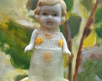 Antique Doll Japan Bisque Moveable Arms China Figurine