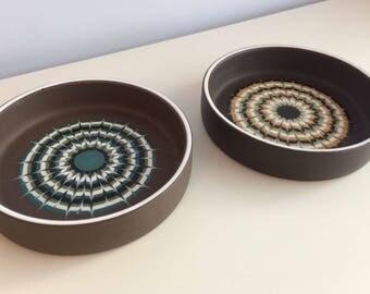 Pair of Hornsea Muramic Dishes