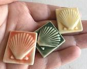 Mosaic Tile Ceramic Fan Scallop Shell Gulf Coast Porcelain Your Choice