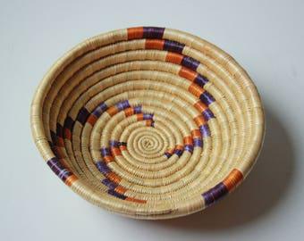 Vintage African woven basket