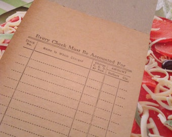 1940s Grocery Supply Receipt Book  Unused Complete 1940 Salesmans Receipt Book