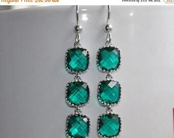 Emerald Green Earrings,  Sterling Silver,  Dangle Earrings,  Bridal Jewelry,  Green Dangle Earrings,  Wedding Jewelry,  Fashion Jewelry