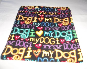 Large, Microwave Potato Bag, I Love My Dog, Baked Potato Bag, Potato Bag, Dog Potato Bag, All Cotton, Handmade, Kitchen Utensil, Gift