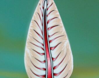 Polymer Clay Feather/Leaf Cane -'Morgan' (41C)
