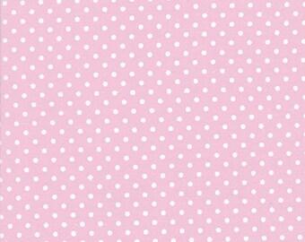 HALF YARD - Tanya Whelan Fabric, Delilah, Pink Dots, White, Polka Dots, cotton quilting fabric
